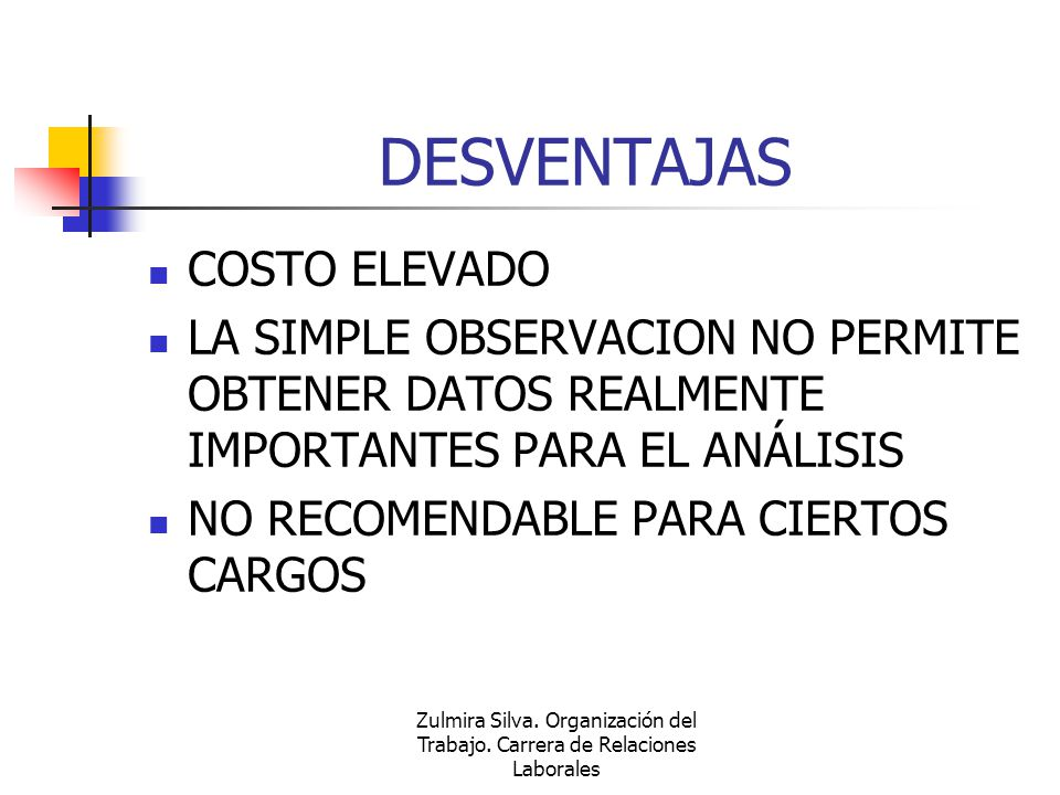 DESVENTAJAS COSTO ELEVADO