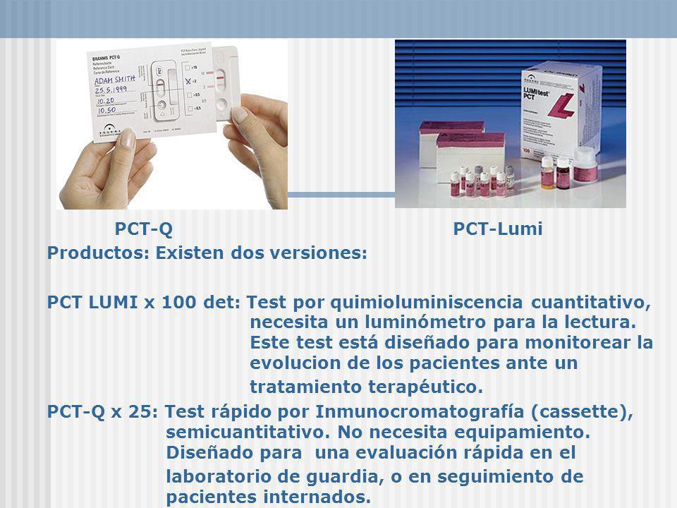 PCT-Q PCT-Lumi Productos: Existen dos versiones: