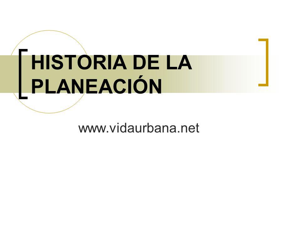 HISTORIA DE LA PLANEACIÓN