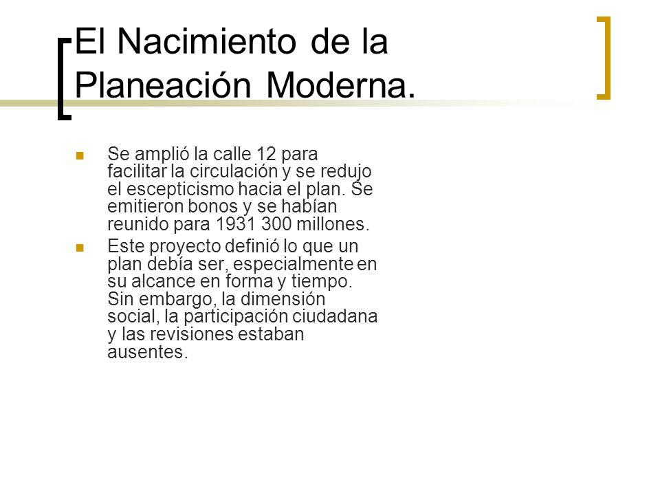 El Nacimiento de la Planeación Moderna.