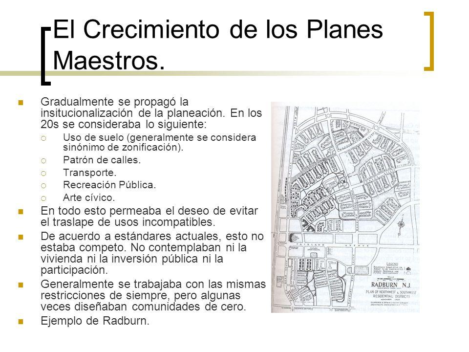El Crecimiento de los Planes Maestros.