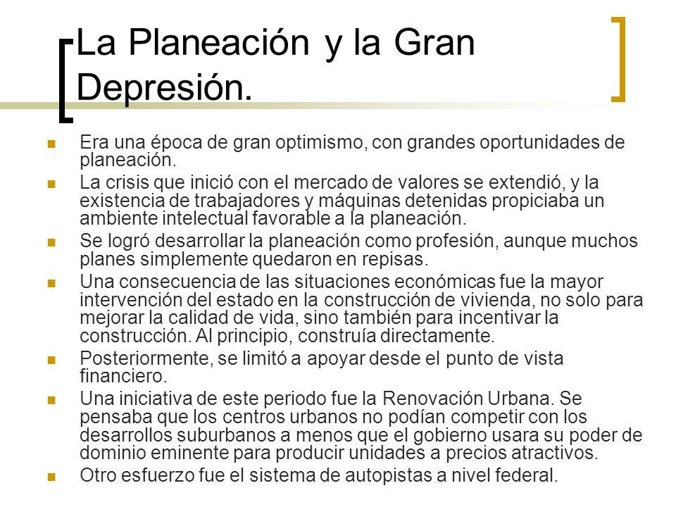 La Planeación y la Gran Depresión.