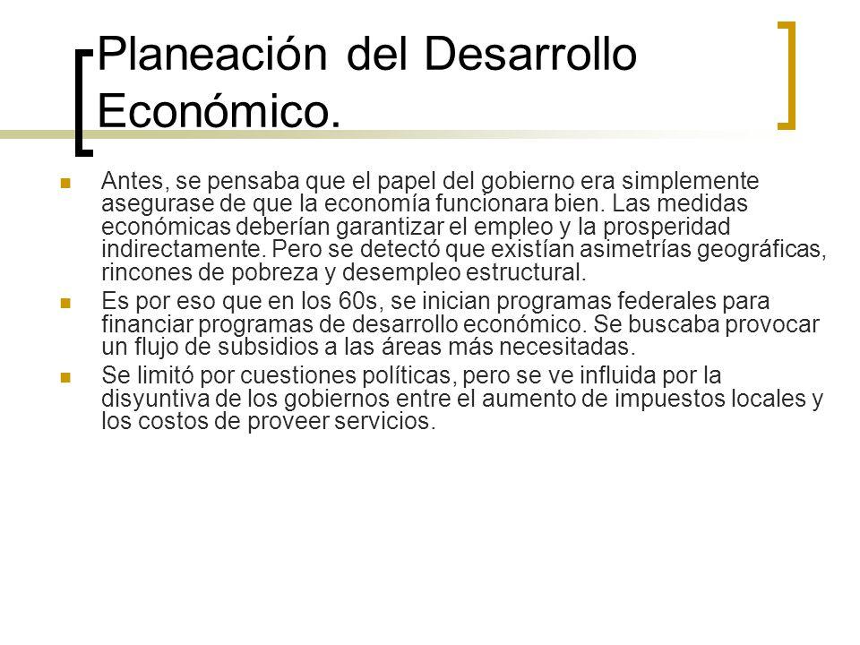 Planeación del Desarrollo Económico.