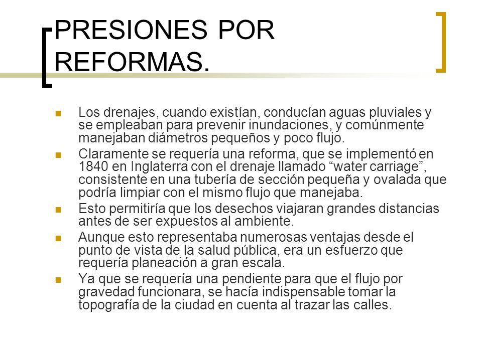 PRESIONES POR REFORMAS.