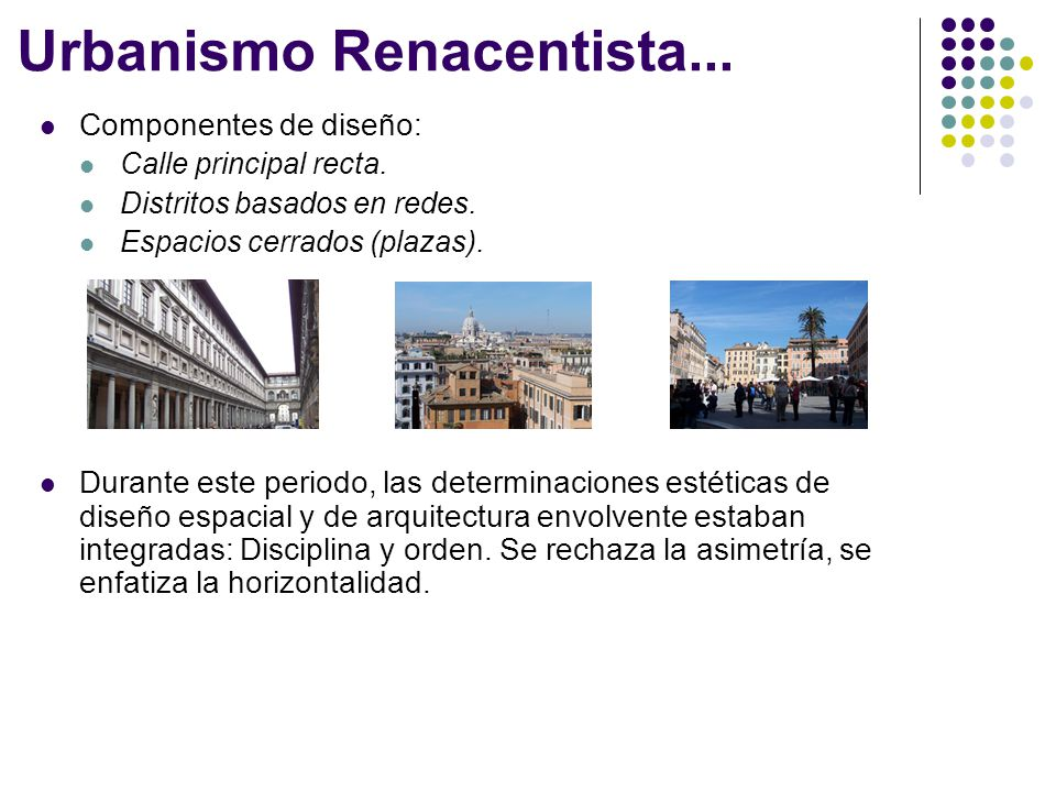 Urbanismo Renacentista...