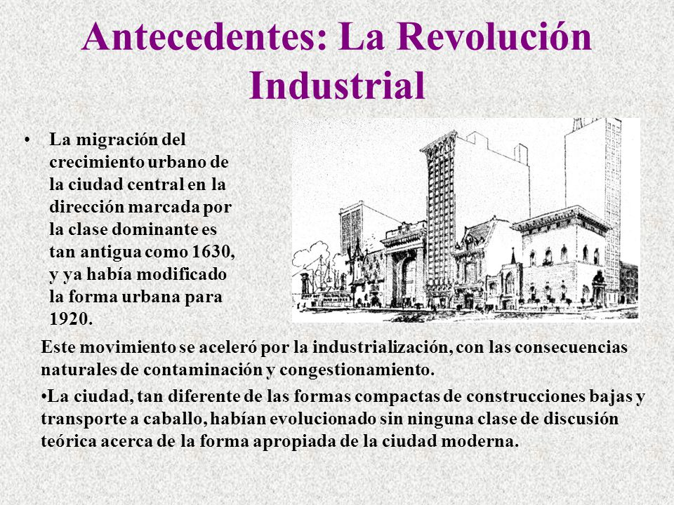 Antecedentes: La Revolución Industrial