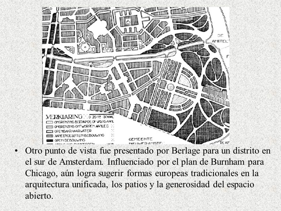 Otro punto de vista fue presentado por Berlage para un distrito en el sur de Amsterdam.