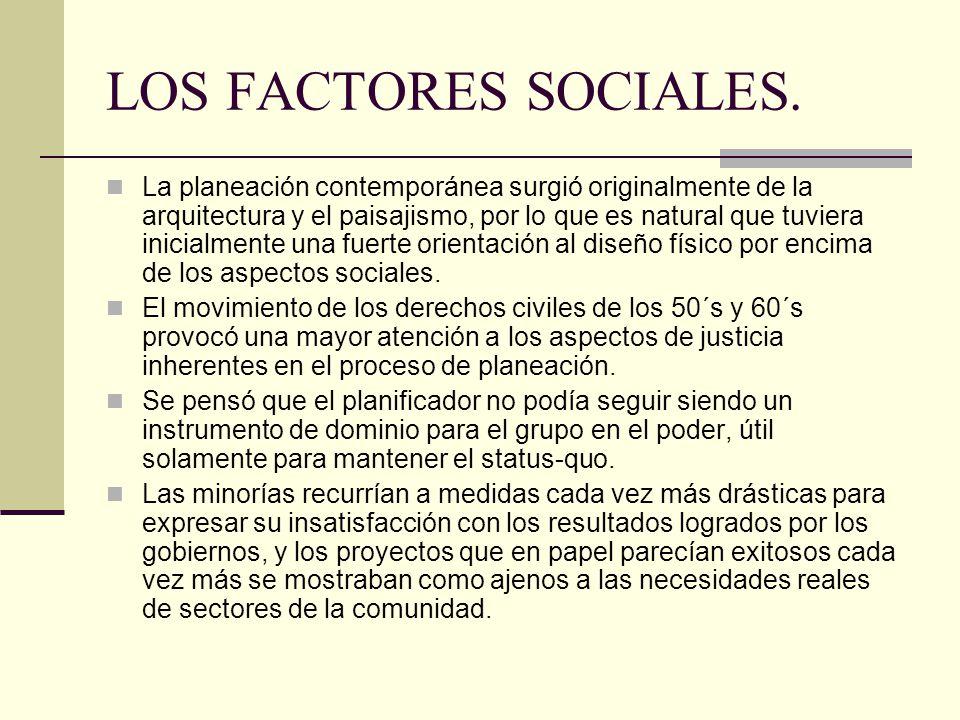 LOS FACTORES SOCIALES.