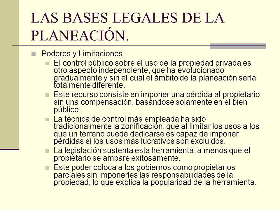 LAS BASES LEGALES DE LA PLANEACIÓN.