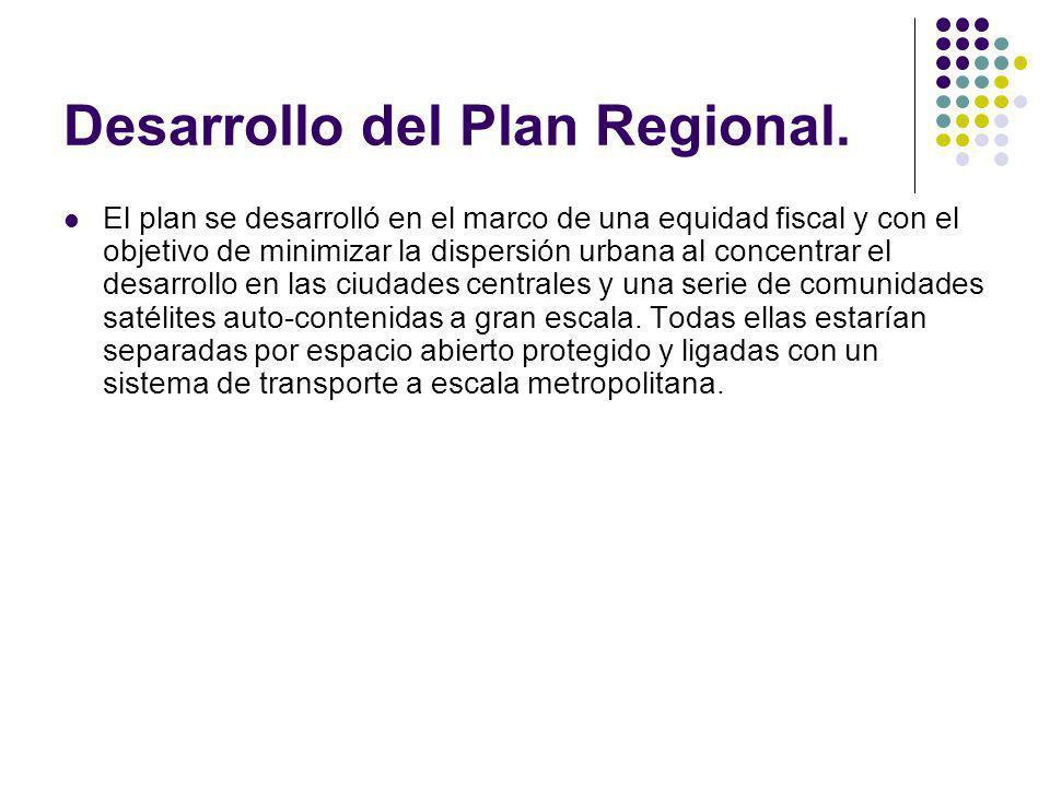 Desarrollo del Plan Regional.