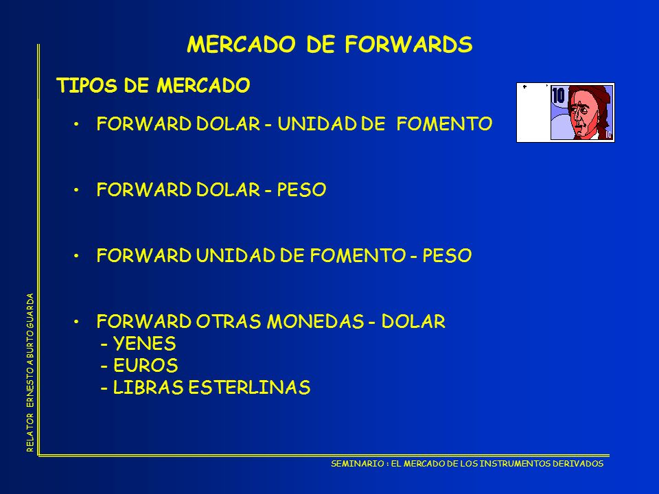 MERCADO DE FORWARDS TIPOS DE MERCADO FORWARD DOLAR - UNIDAD DE FOMENTO