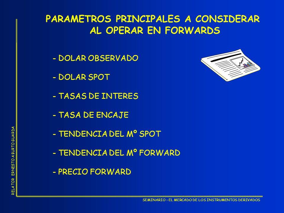 PARAMETROS PRINCIPALES A CONSIDERAR