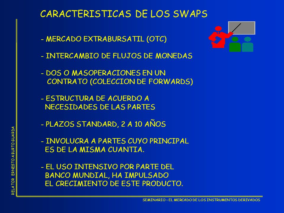 CARACTERISTICAS DE LOS SWAPS