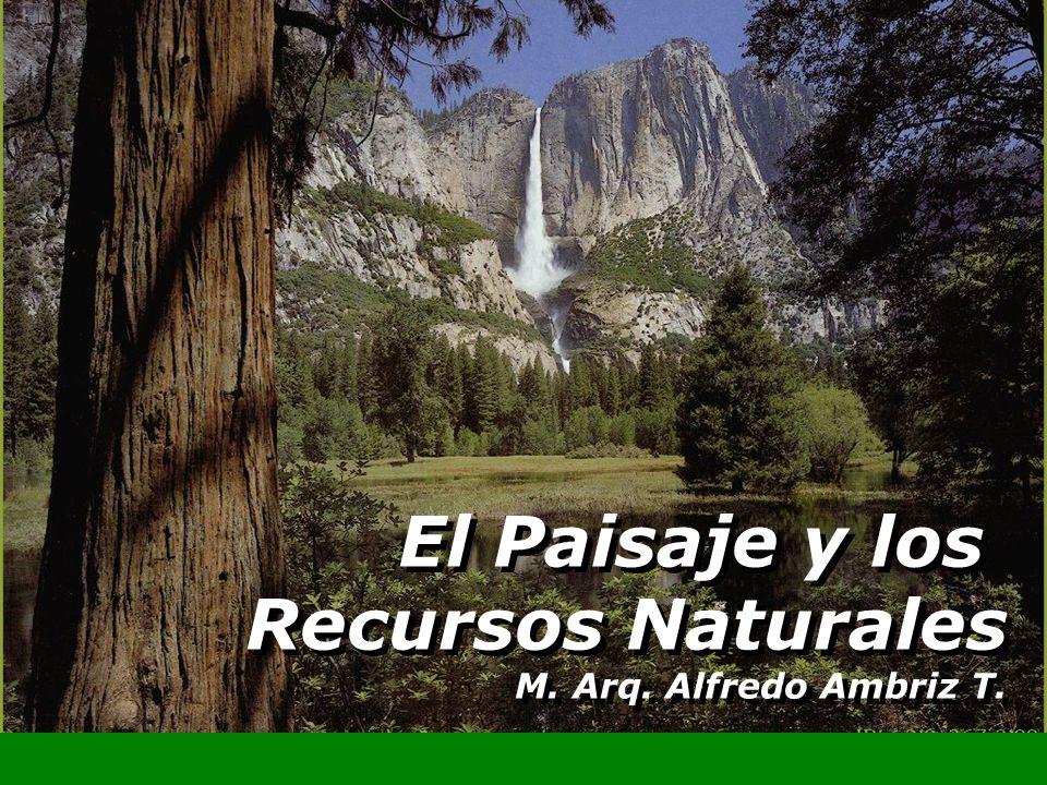 El Paisaje y los Recursos Naturales M. Arq. Alfredo Ambriz T.