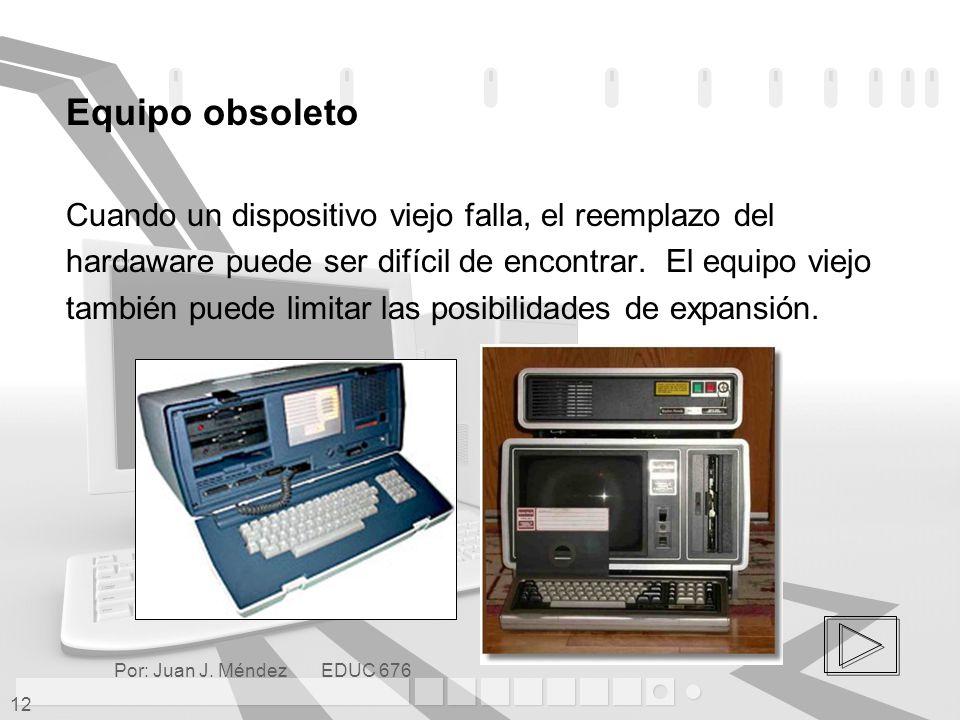 Equipo obsoleto Cuando un dispositivo viejo falla, el reemplazo del