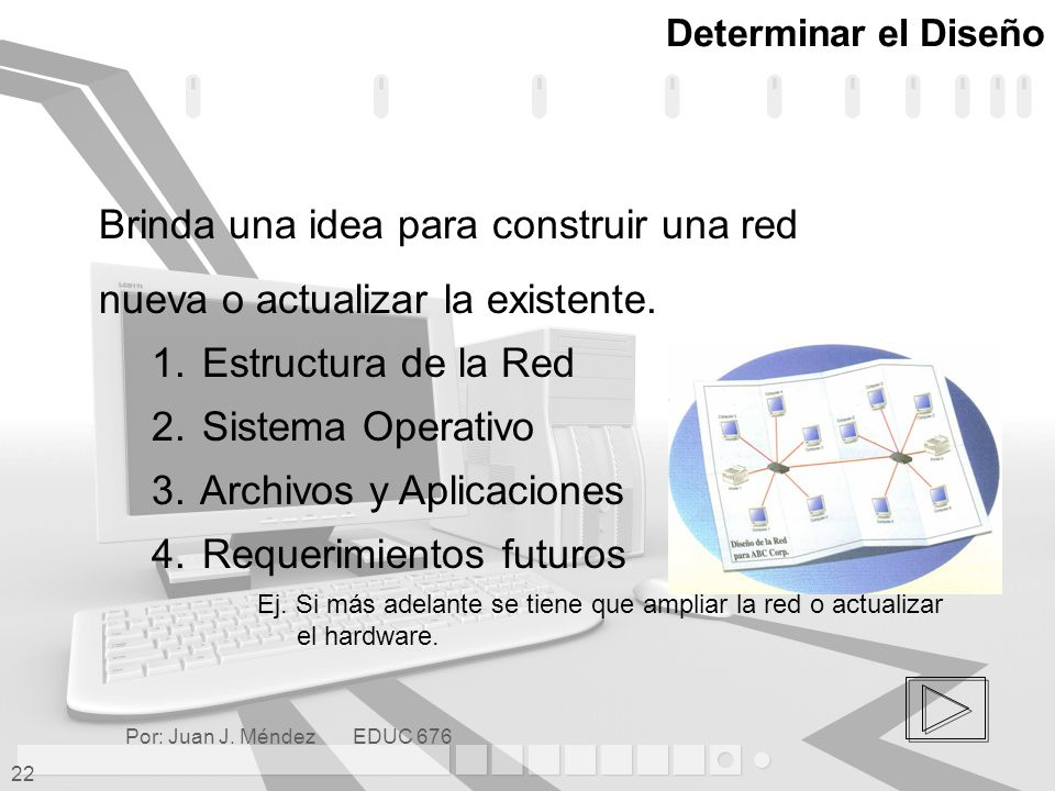 Brinda una idea para construir una red