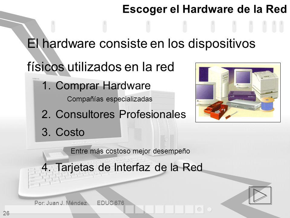 Escoger el Hardware de la Red