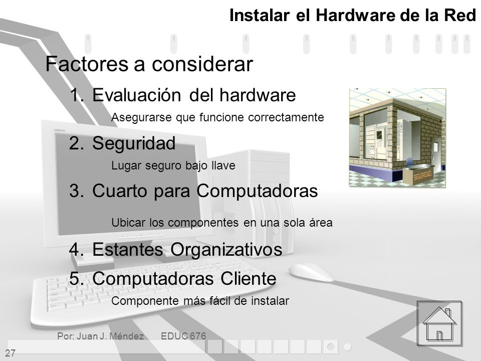 Instalar el Hardware de la Red