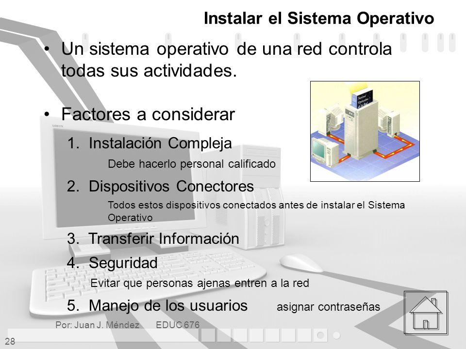 Instalar el Sistema Operativo