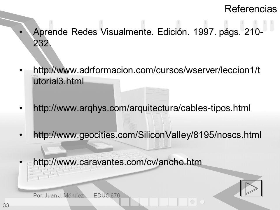 Referencias Aprende Redes Visualmente. Edición. 1997. págs. 210-232.