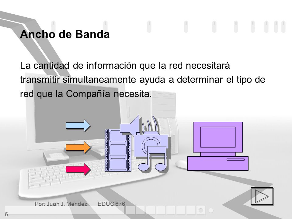 Ancho de Banda La cantidad de información que la red necesitará