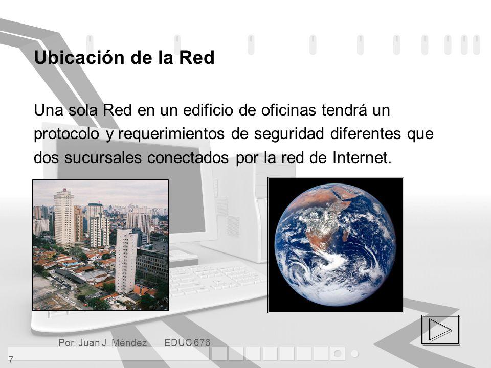 Ubicación de la Red Una sola Red en un edificio de oficinas tendrá un