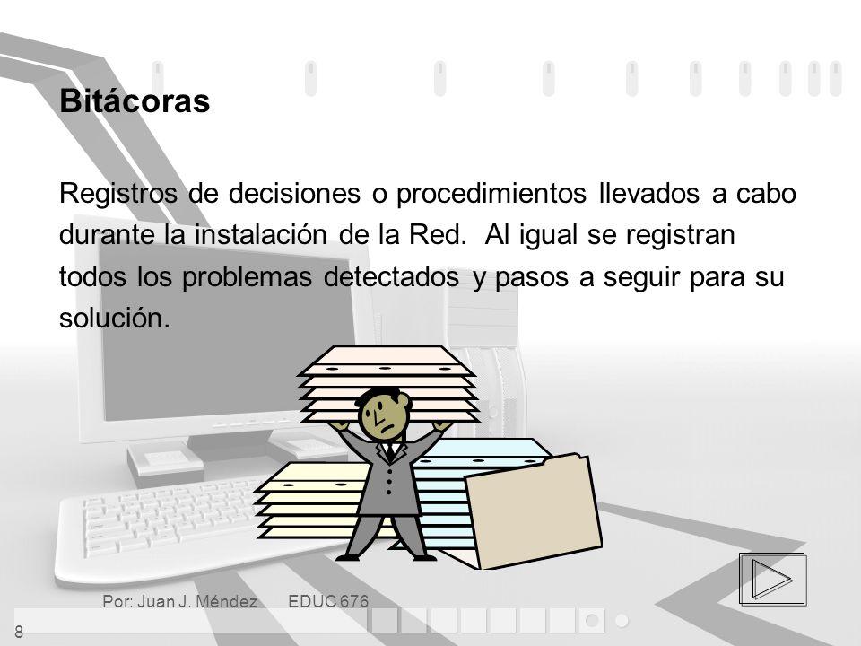 Bitácoras Registros de decisiones o procedimientos llevados a cabo