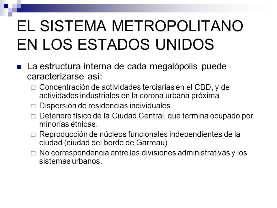 EL SISTEMA METROPOLITANO EN LOS ESTADOS UNIDOS