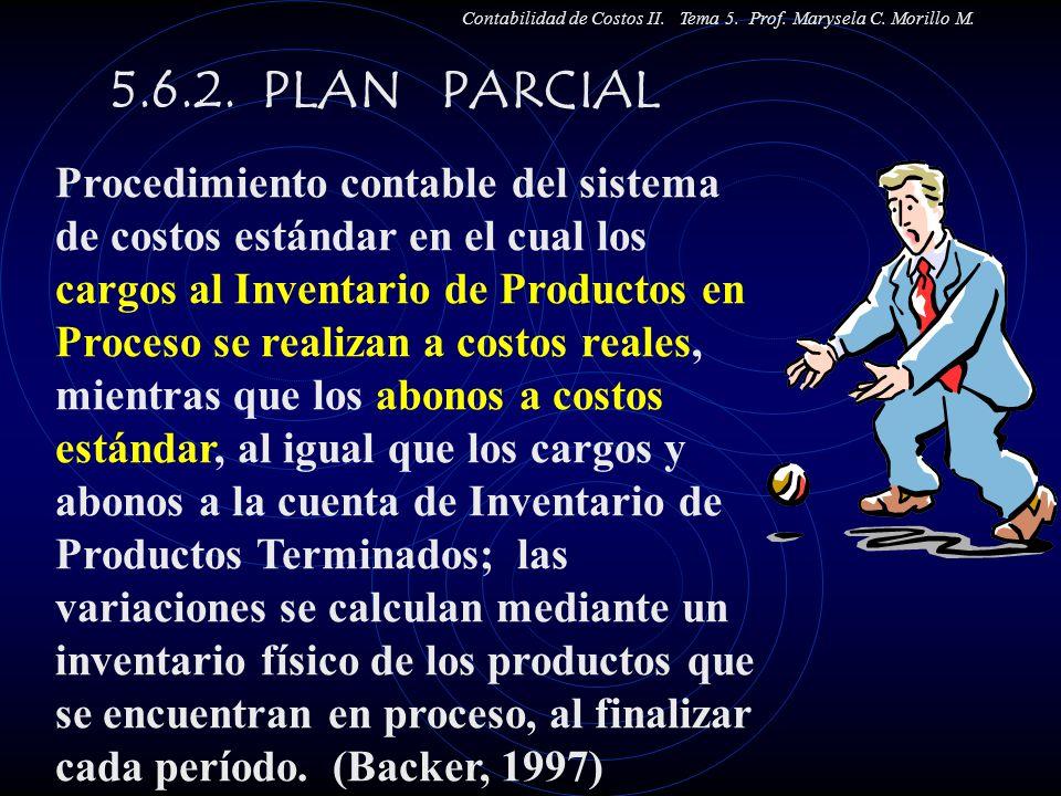 Contabilidad de Costos II. Tema 5. Prof. Marysela C. Morillo M.