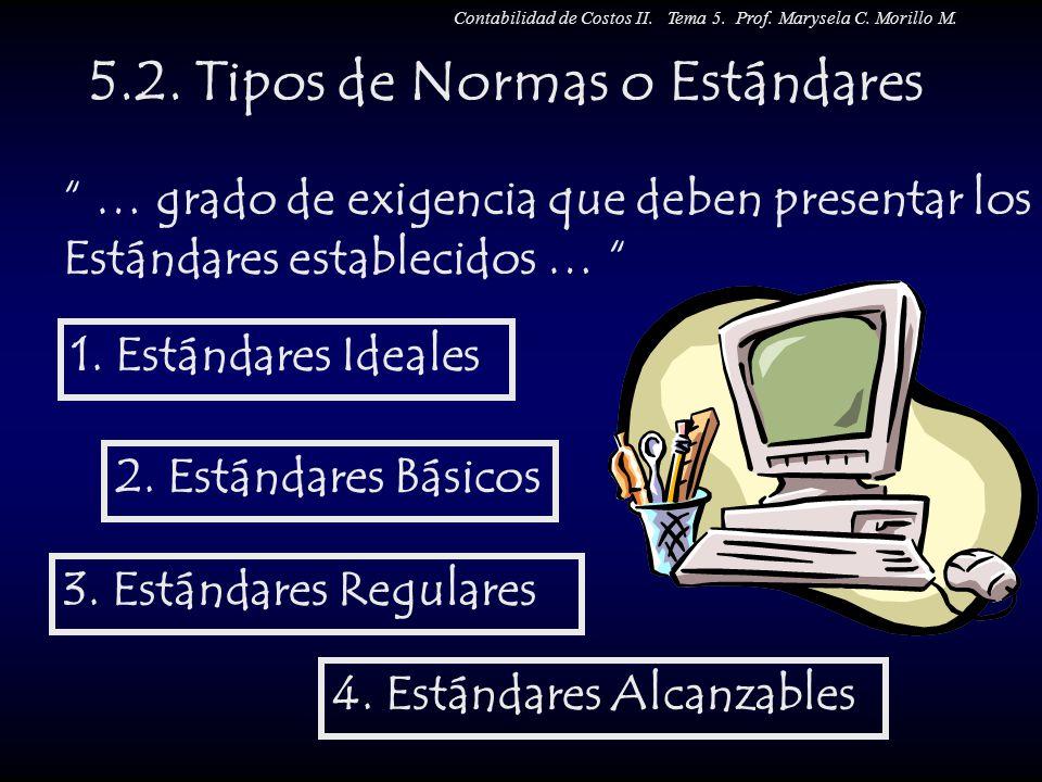 5.2. Tipos de Normas o Estándares
