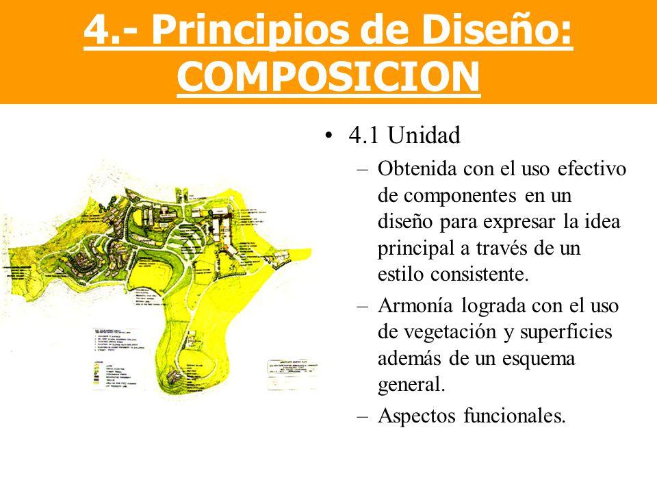 4.- Principios de Diseño: COMPOSICION