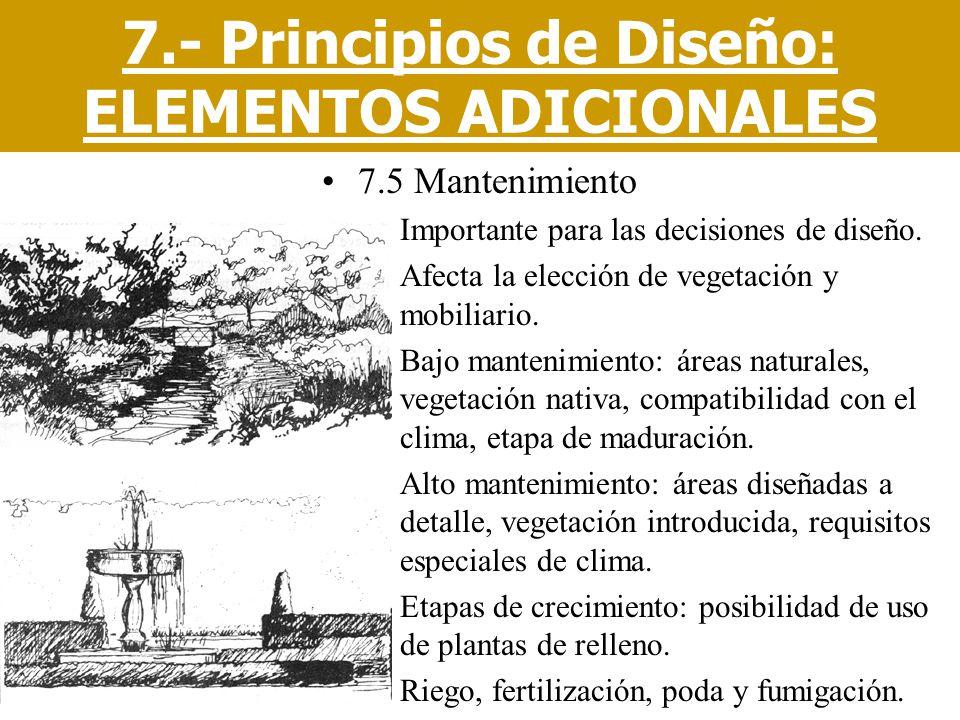 7.- Principios de Diseño: ELEMENTOS ADICIONALES