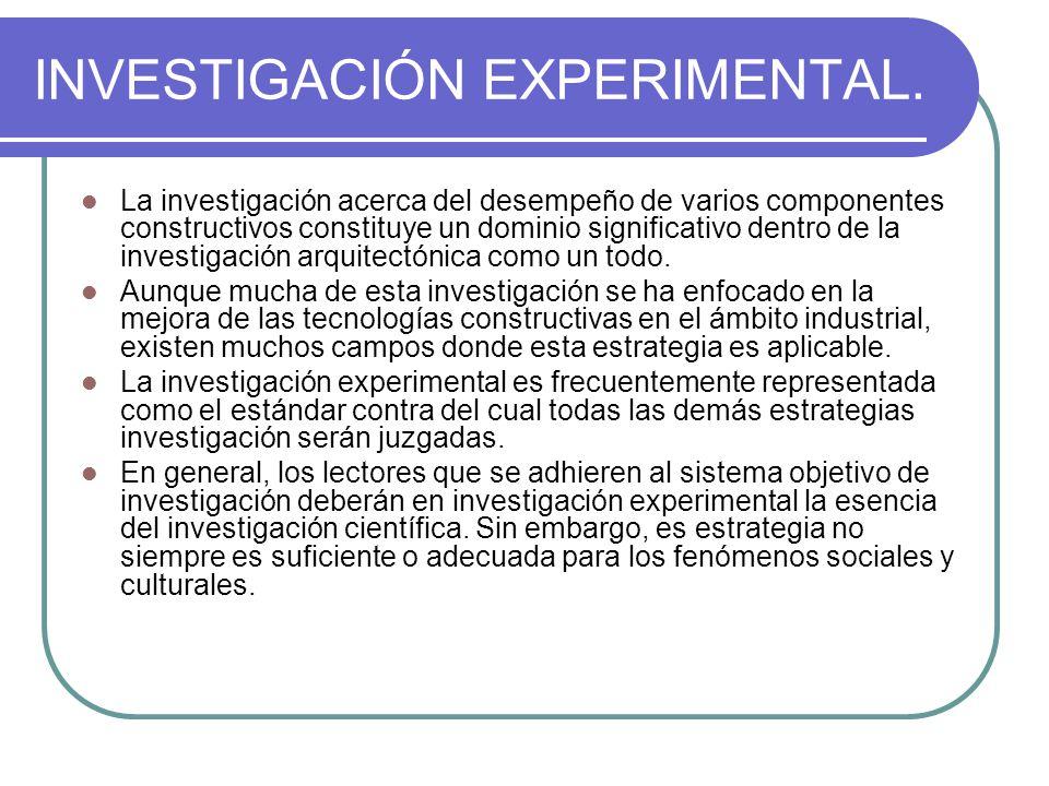 INVESTIGACIÓN EXPERIMENTAL.