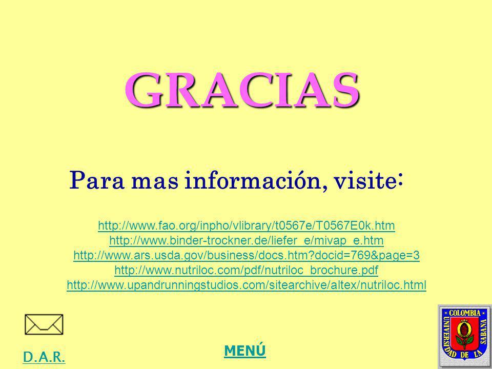 Para mas información, visite: