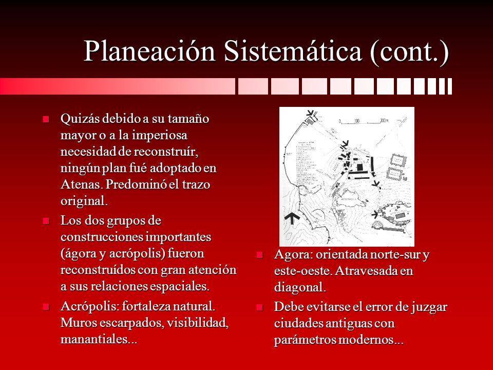Planeación Sistemática (cont.)