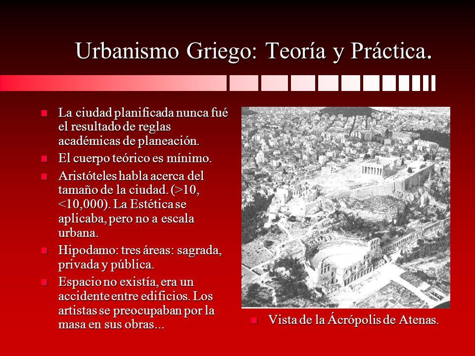 Urbanismo Griego: Teoría y Práctica.