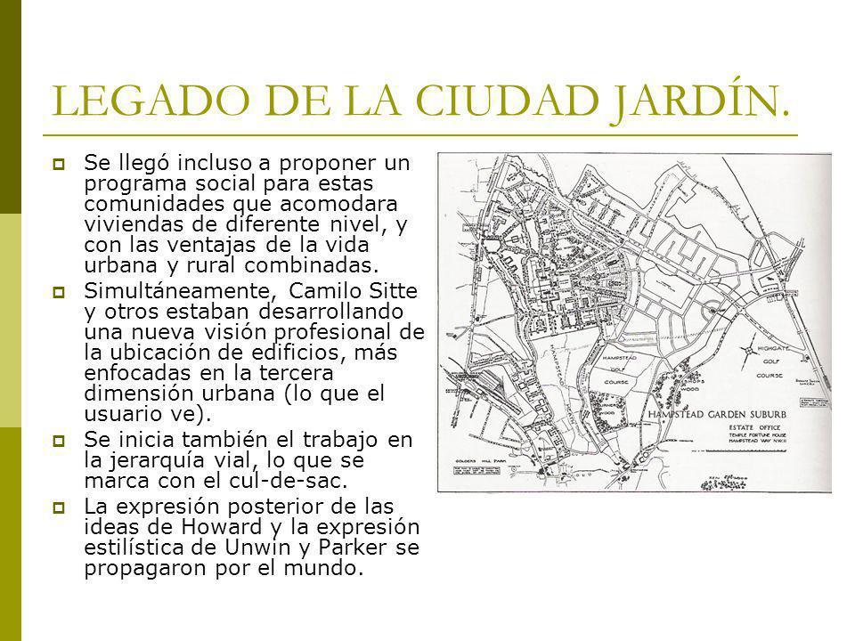 LEGADO DE LA CIUDAD JARDÍN.