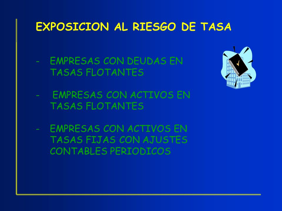 EXPOSICION AL RIESGO DE TASA