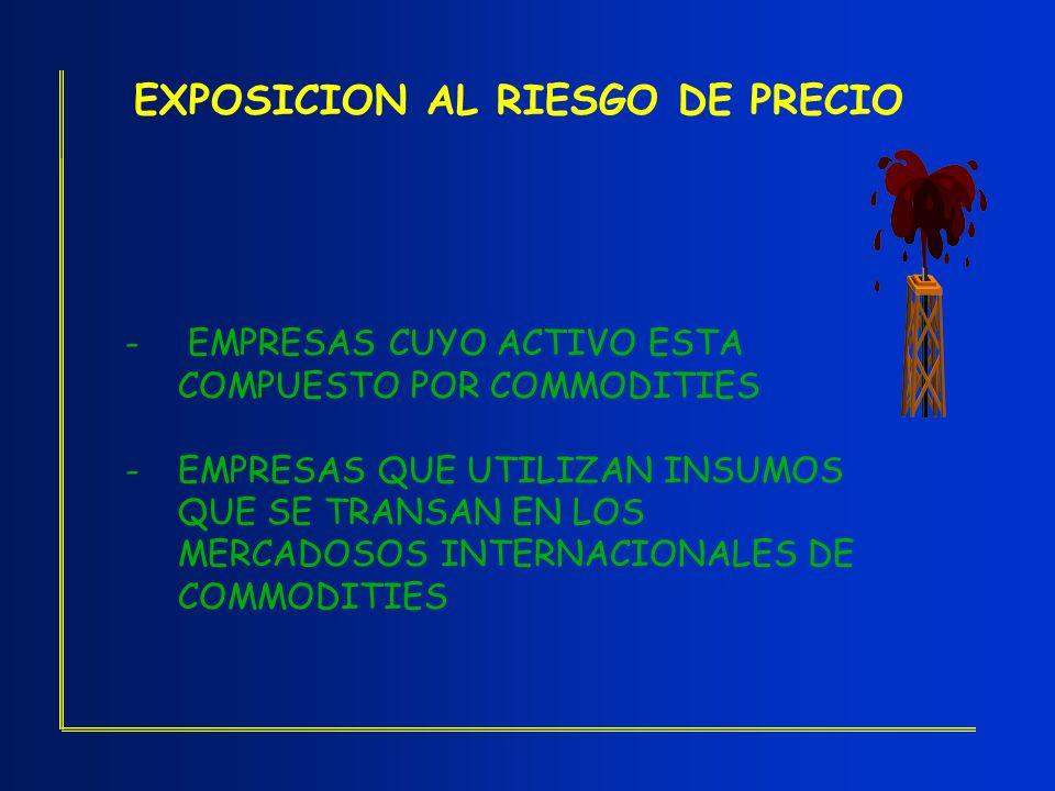 EXPOSICION AL RIESGO DE PRECIO