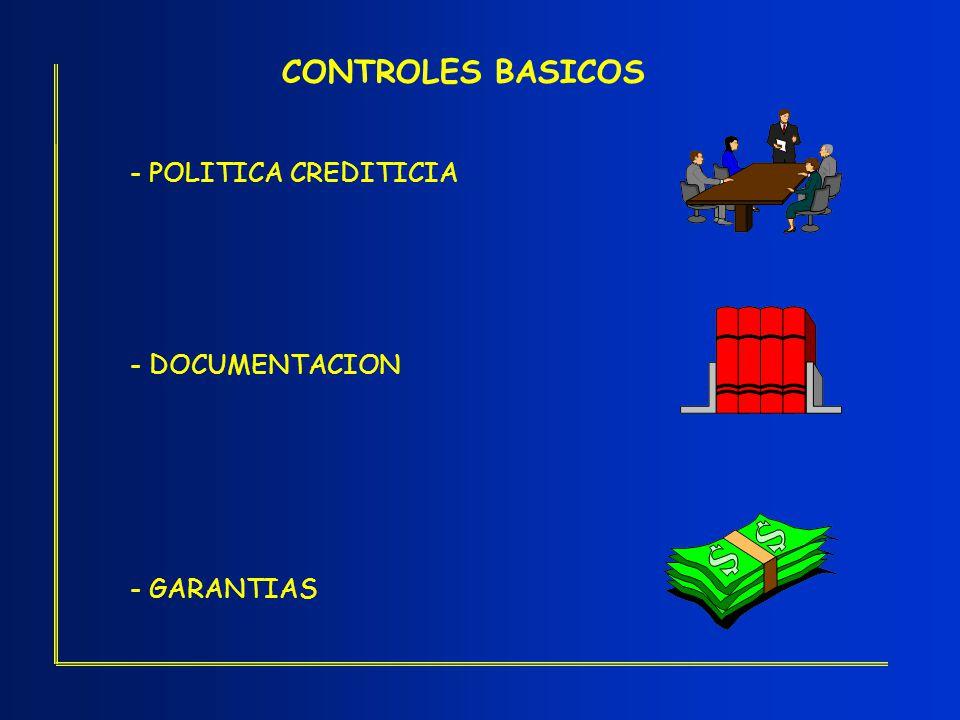 CONTROLES BASICOS - POLITICA CREDITICIA - DOCUMENTACION - GARANTIAS
