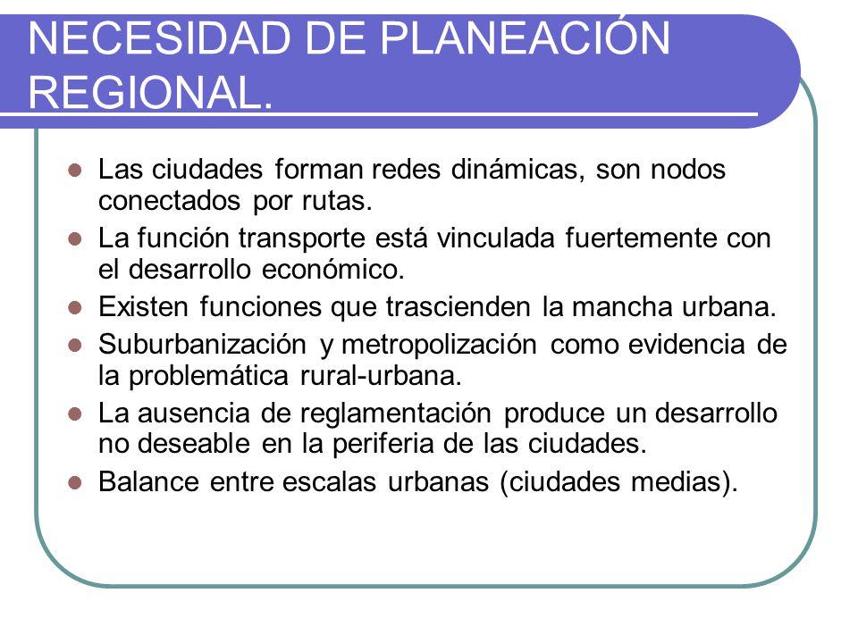 NECESIDAD DE PLANEACIÓN REGIONAL.