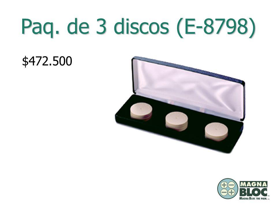 Paq. de 3 discos (E-8798) $472.500.