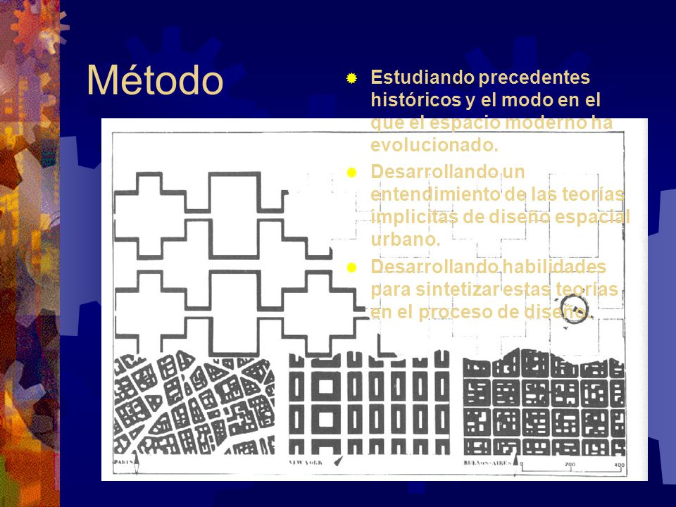 Método Estudiando precedentes históricos y el modo en el que el espacio moderno ha evolucionado.