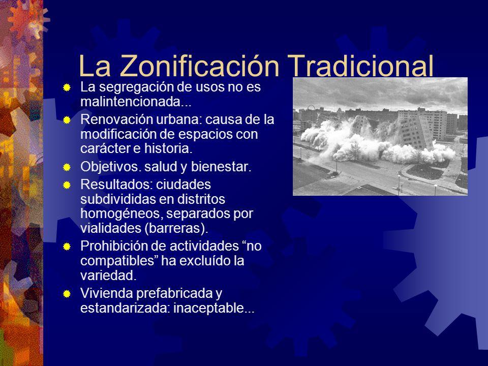 La Zonificación Tradicional
