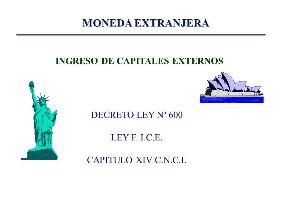 INGRESO DE CAPITALES EXTERNOS