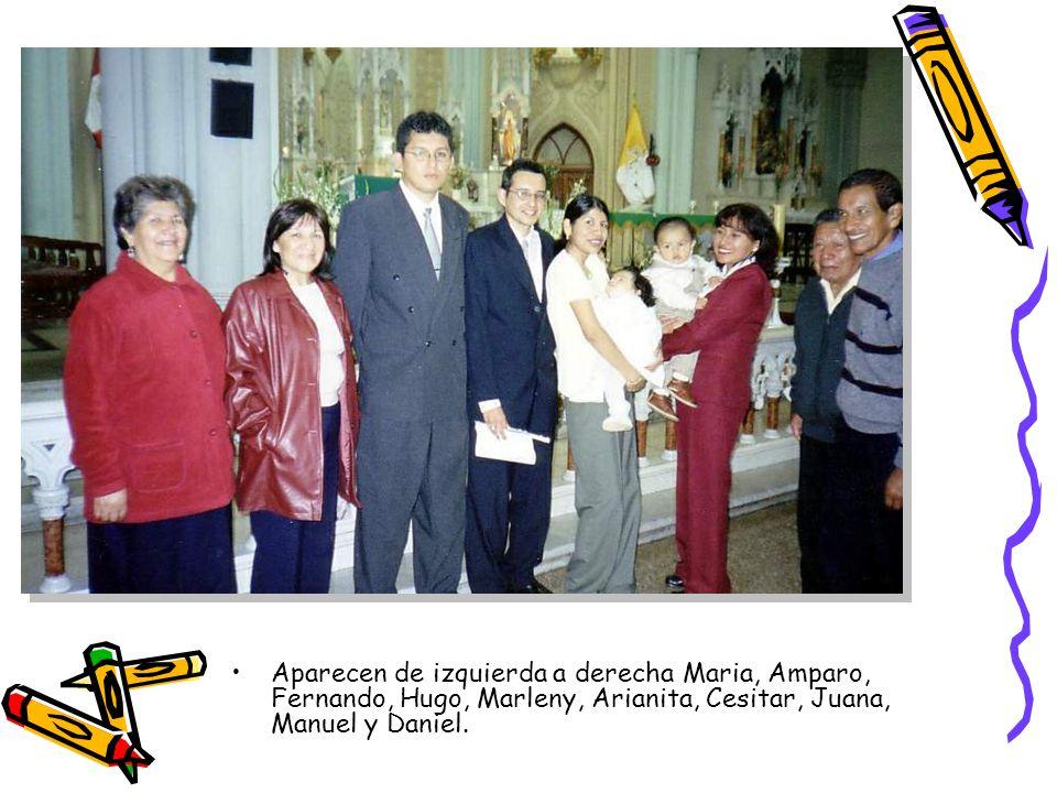Aparecen de izquierda a derecha Maria, Amparo, Fernando, Hugo, Marleny, Arianita, Cesitar, Juana, Manuel y Daniel.