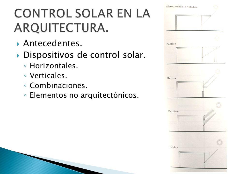 CONTROL SOLAR EN LA ARQUITECTURA.
