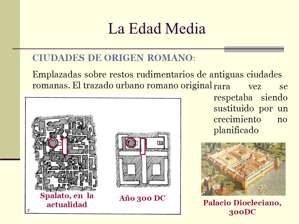 Spalato, en la actualidad Palacio Diocleciano, 300DC