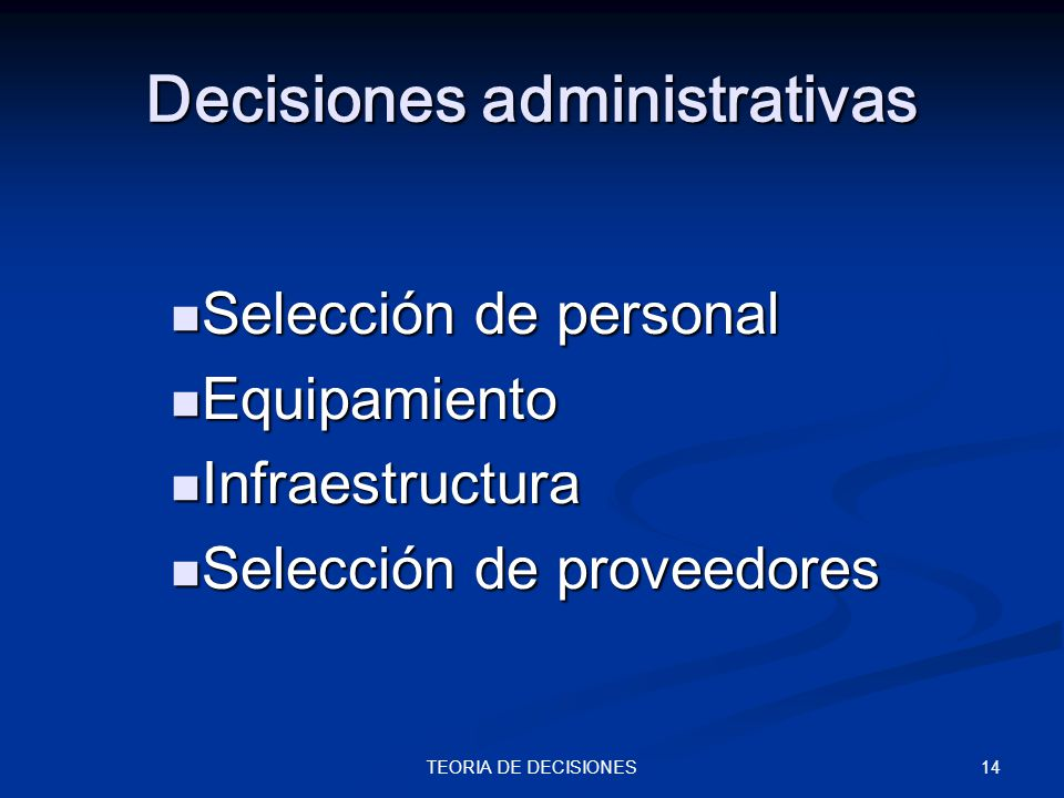 Decisiones administrativas