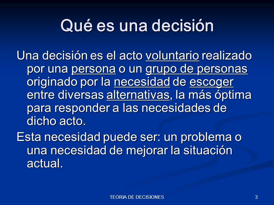 Qué es una decisión